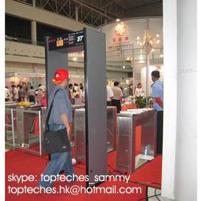 high sensitive walk-through metal detector, gun detector