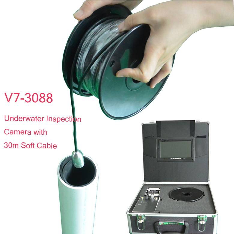 CCTV Pipe Camera with Soft Cable