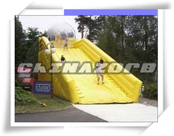 Commercial grade inflatable zorb ball ramp high quality