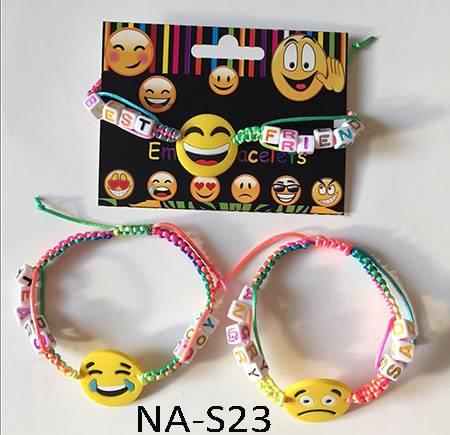Rainbow emoji message bracelet,paracord bracelet,novelty bracelet