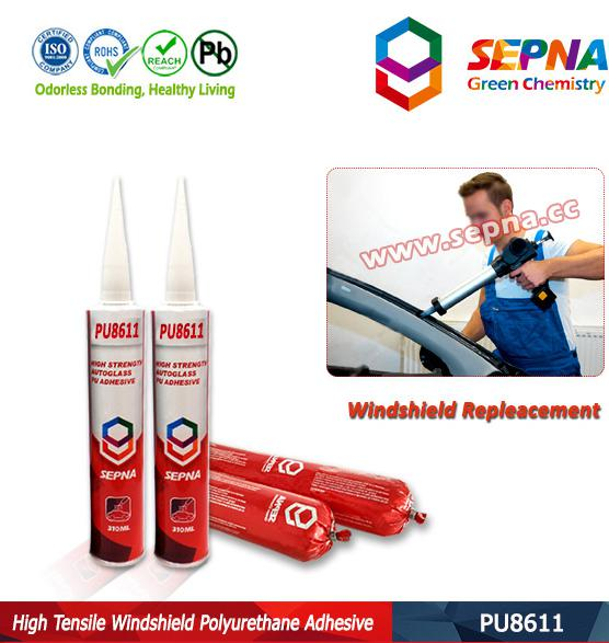 PU8611 One Component Auto Glass Polyurethane Adhesive