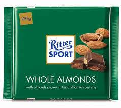 RITTER SPORT 100g Whole Almonds Chocolate