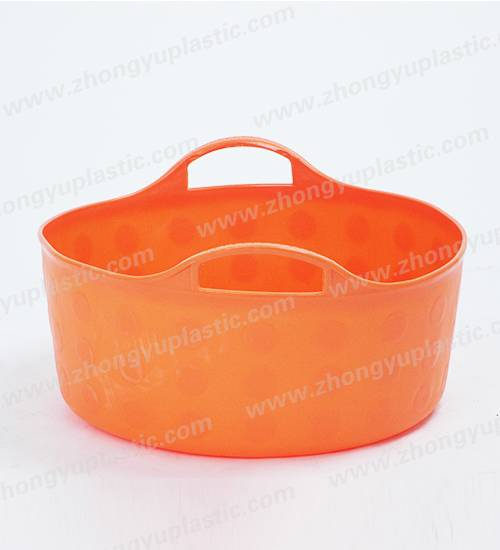 Plastic flexible tub, plastic basket, Shalow bucket