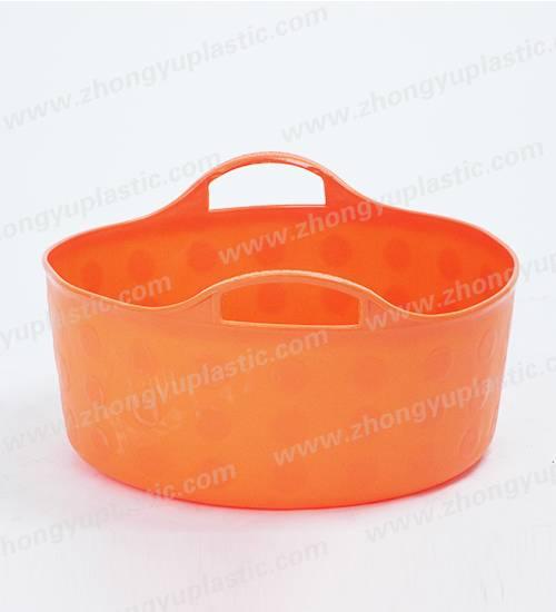 Plastic flexible tub, plastic basket, Shalow bucket