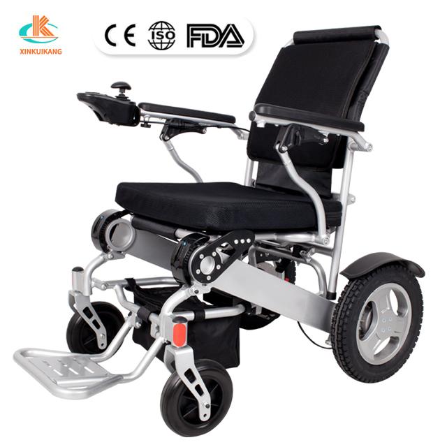 Intelligent type electromagnetic brake aluminum alloy lightweight brushless motor folding wheelstair