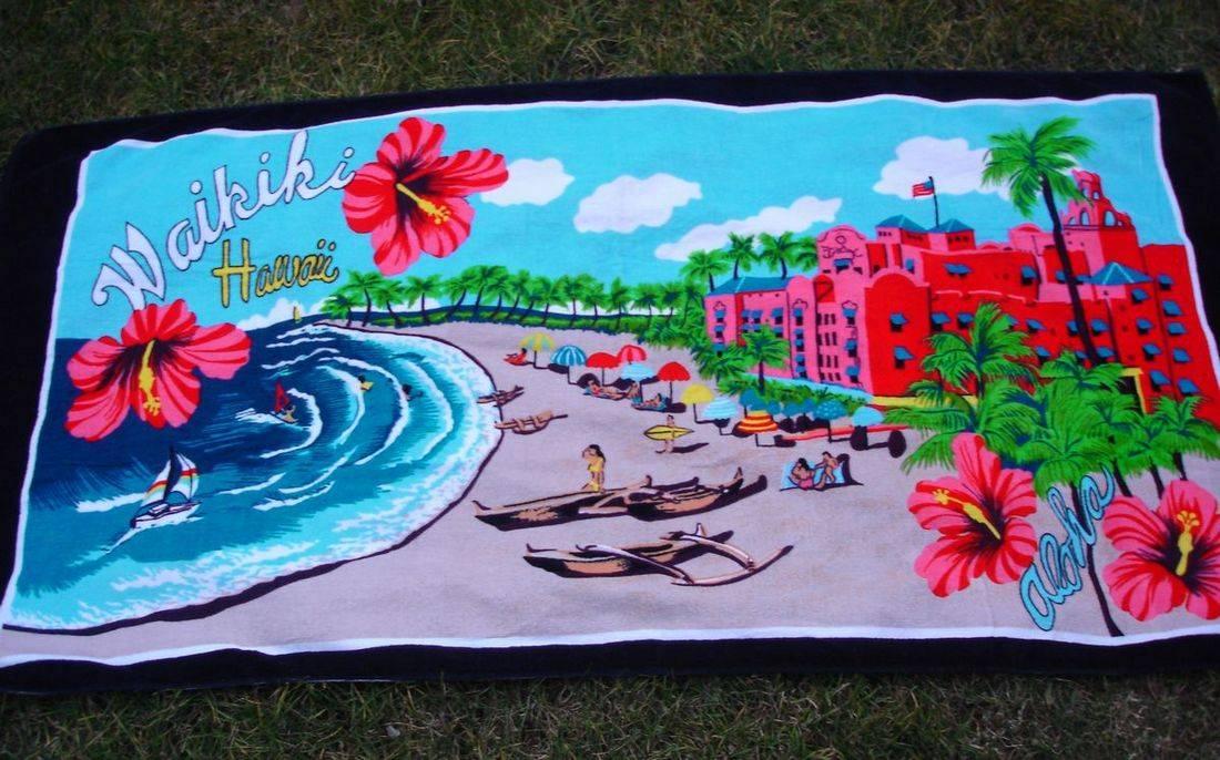 Hawaill velour beach towel