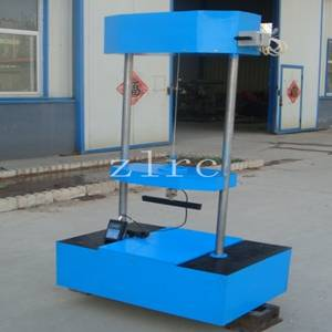 Corrugated plastic pipe partial lateral load test machine