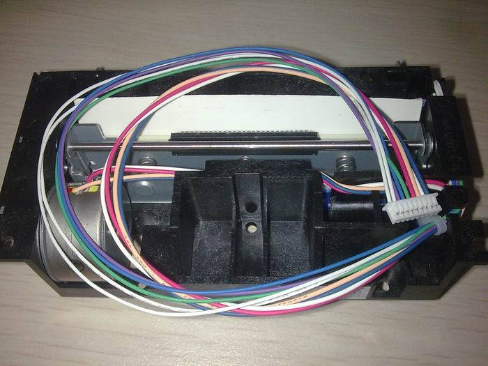 LTPF347F-C576-EThermal printer, gears, rollers, the print head assembly