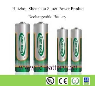 AA/AAA Cell 600mAh-2300mAh Ni-MH rechargeable Battery