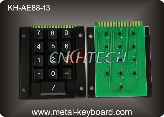 KH-AE88-13 13 Keys Rugged Access Kiosk Keypad Numeric , Metal Panel Mount Keypad