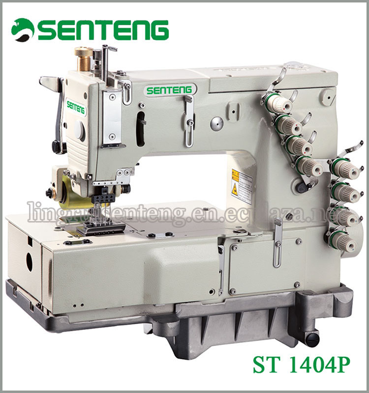 ST 1404P 4-NEEDLE FLAT-BED DOUBLE CHAIN STITCH USED INDUSTRIAL SEWING MACHINES SALE SEWING MACHINES