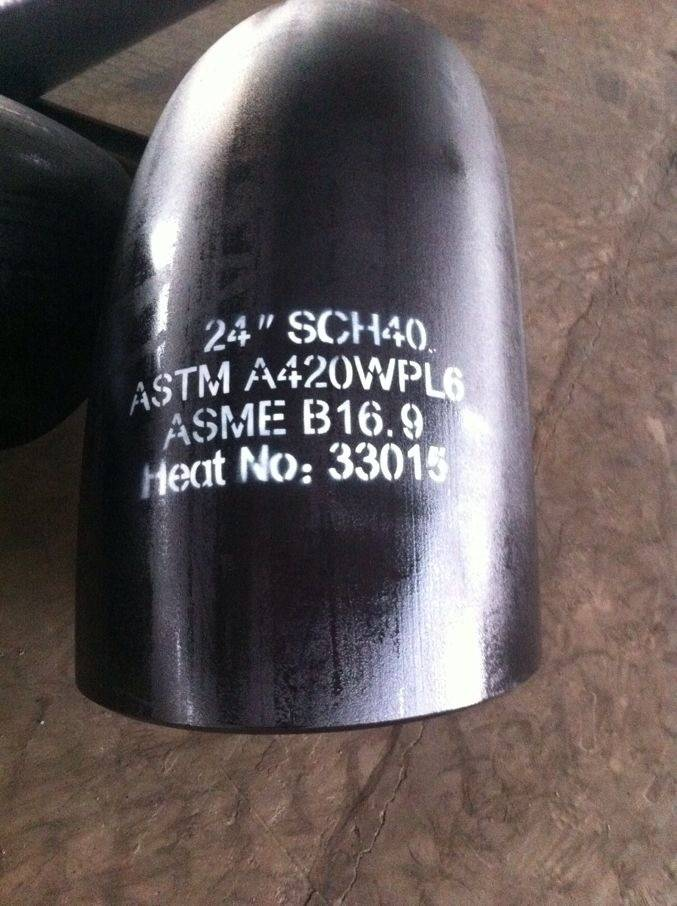 ASTM A420 WPL6 pipe fittings elbow tee reducer cap cross