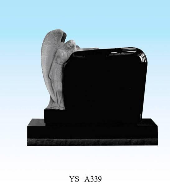 black granite jesus headstone