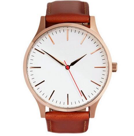 Yxl-382 2016 Newest Brand Stainless Steel Lady Watch Genunie Leather Mvmt Golden Plated Quartz Watch