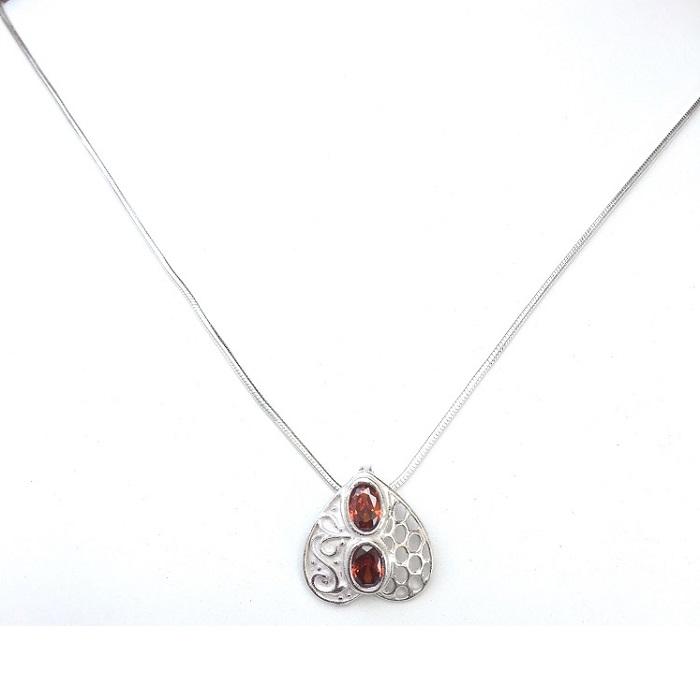 sterling silver zircon pendant set