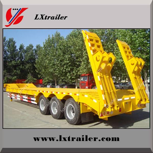 Extendable heavy duty 2 / 3 / muti axle low bed semi trailer