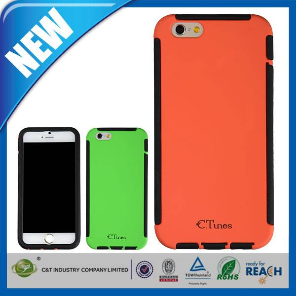 C&T The Newest high quality hybrid 2 in 1 combo case for iphone 6 plus