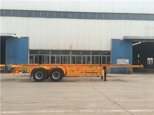 2 Axles Skeleton Container Chassis Semi-trailer