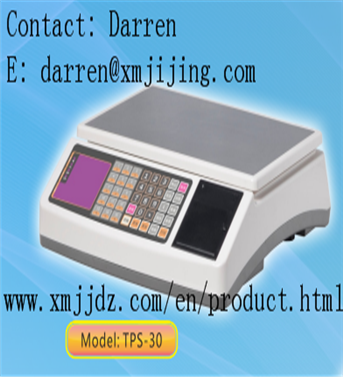 Easying operating electronic cash scale TPS-30