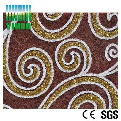 100% polyester 9mm acoustic sound absorption fiber DIY panel