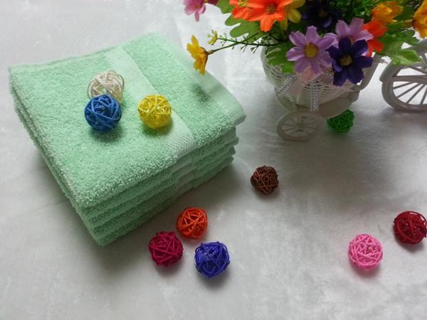 cotton solid color terry bath towel