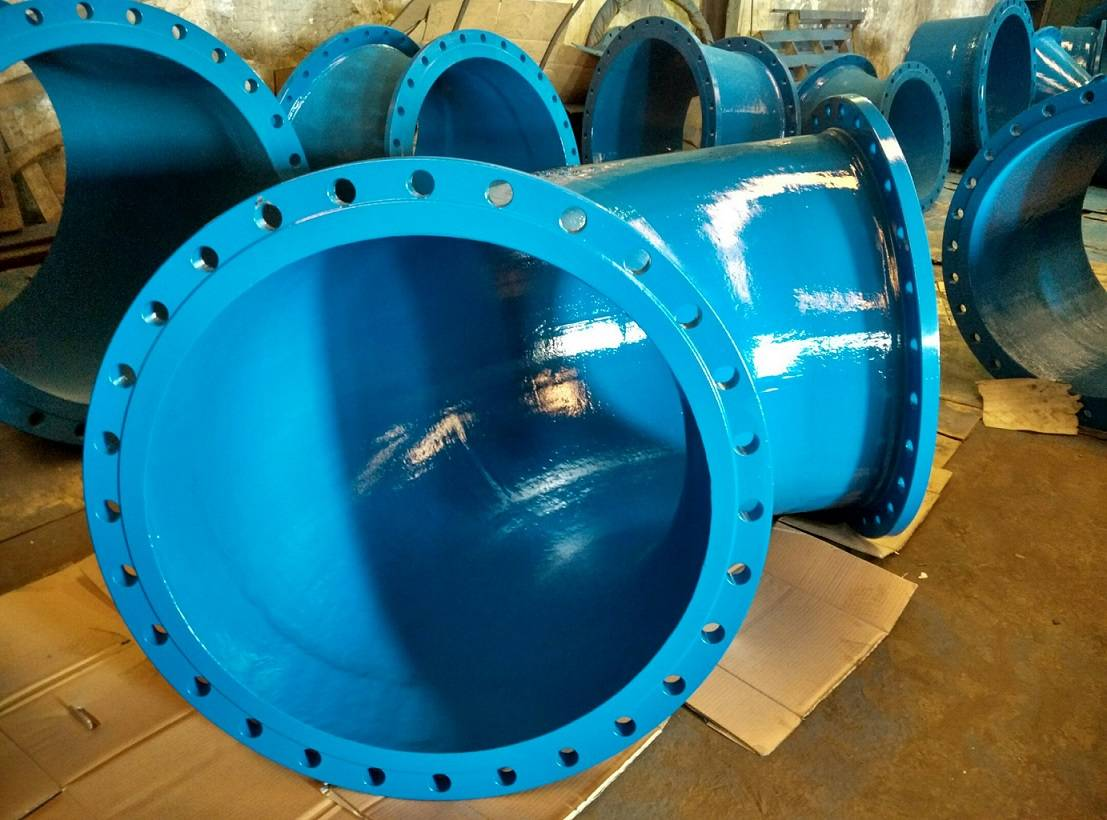 Ductile iron pipe fittings flangle bend
