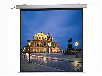 aluminum casing electric projector screen with remote control
