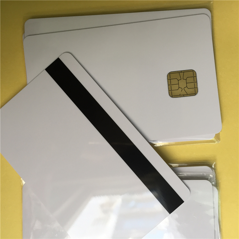big chip smart card wtih 2 track Magnetic Stripe