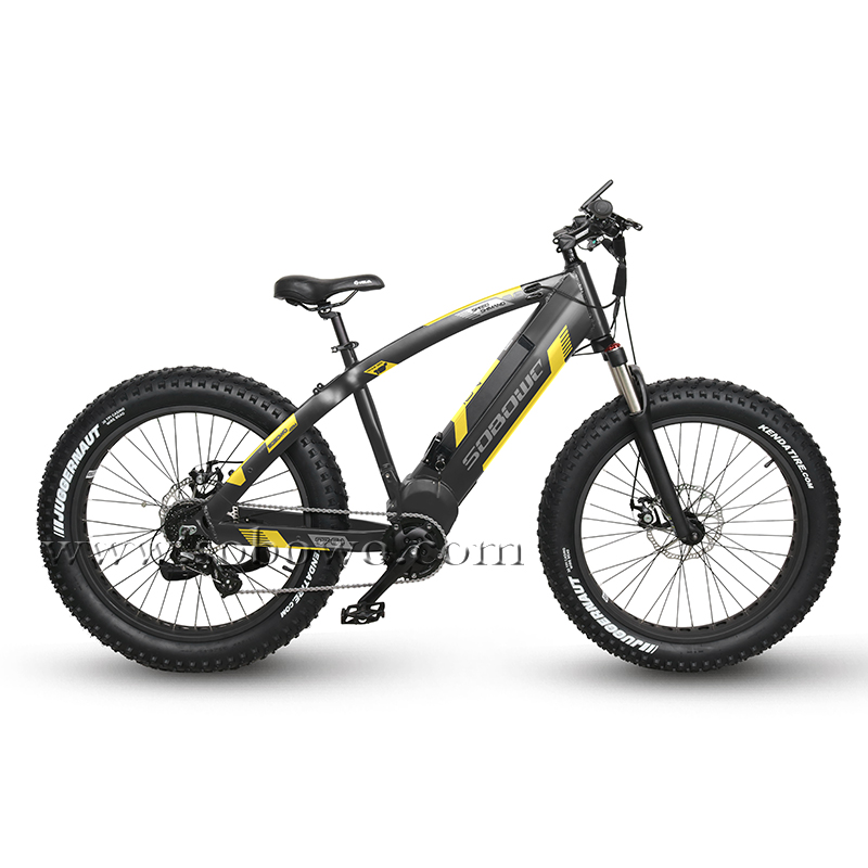 SOBOWO Q7-6-1 750W/1000W Big Power Bafang Mid Motor Electric Bicycle