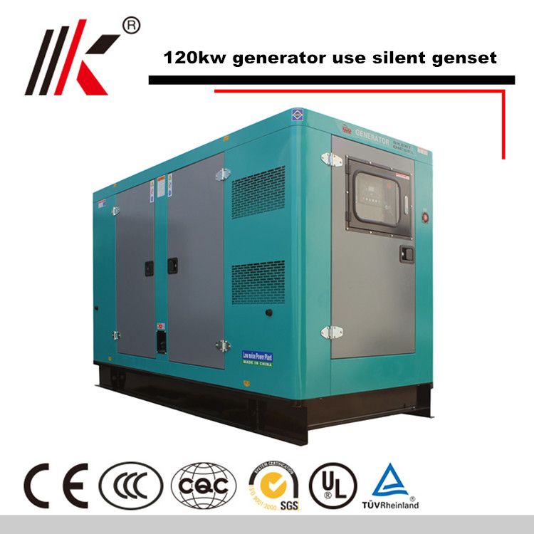 150KW NOISE REDUCTION GENERATOR SET WITH SHAGNCHAI SC7H230D2 DIESEL ENGINE SILENT GENSET IN CHINA