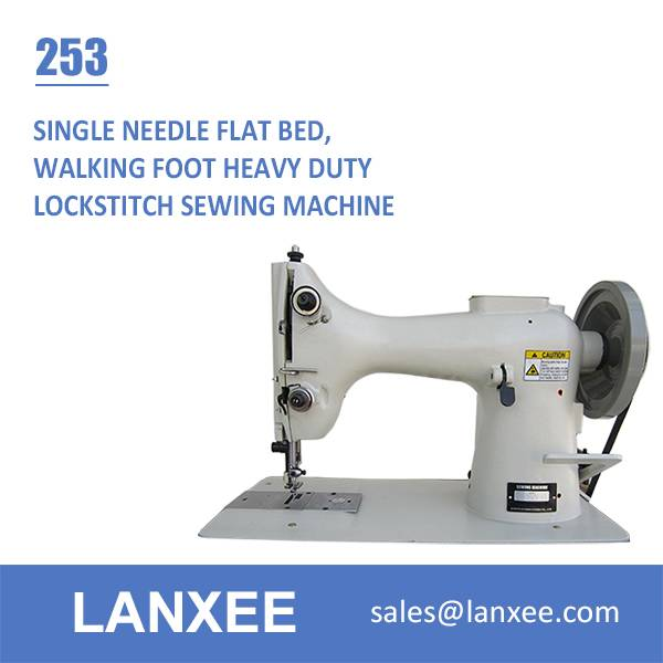 Lanxee 253 Single Needle Flat Bed Lockstitch Sewing Machine