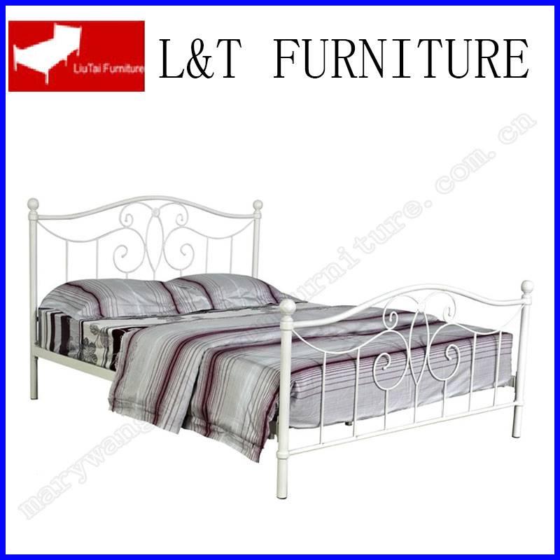 FULL SIZE METAL WHITE IRON BED FRAME