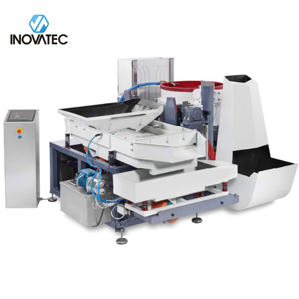 Automatic centrifugal disc finishing machine
