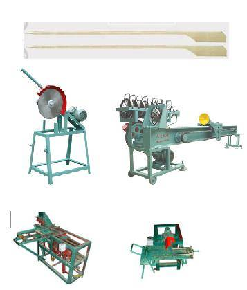 Wood bamboo barbecue BBQ stick skewer making machine processing manufacturing production line