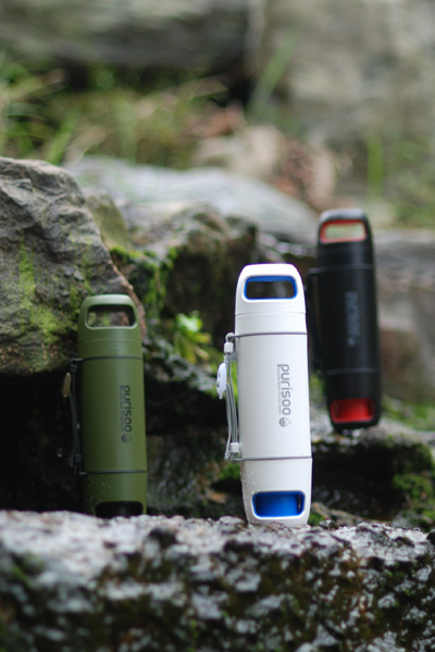 Water Pump Purifier Bottle for Outdoor and Camping