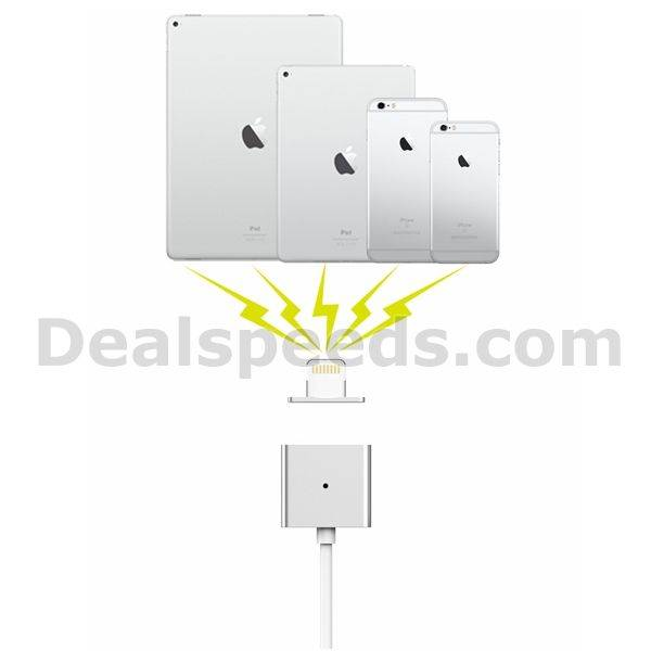 Silver WSKEN Detachable USB charging head magnetic wire without Metal Port on One Side