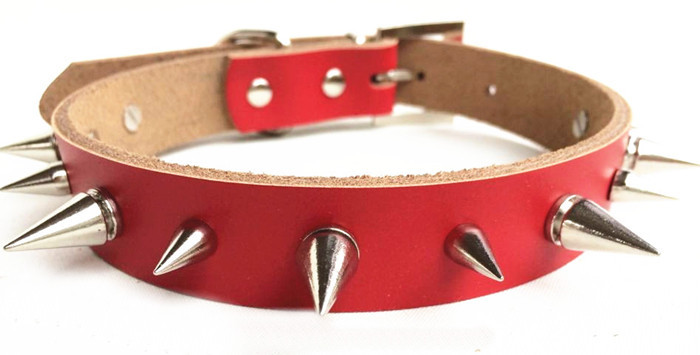 Dog collars leather stud collar pet products