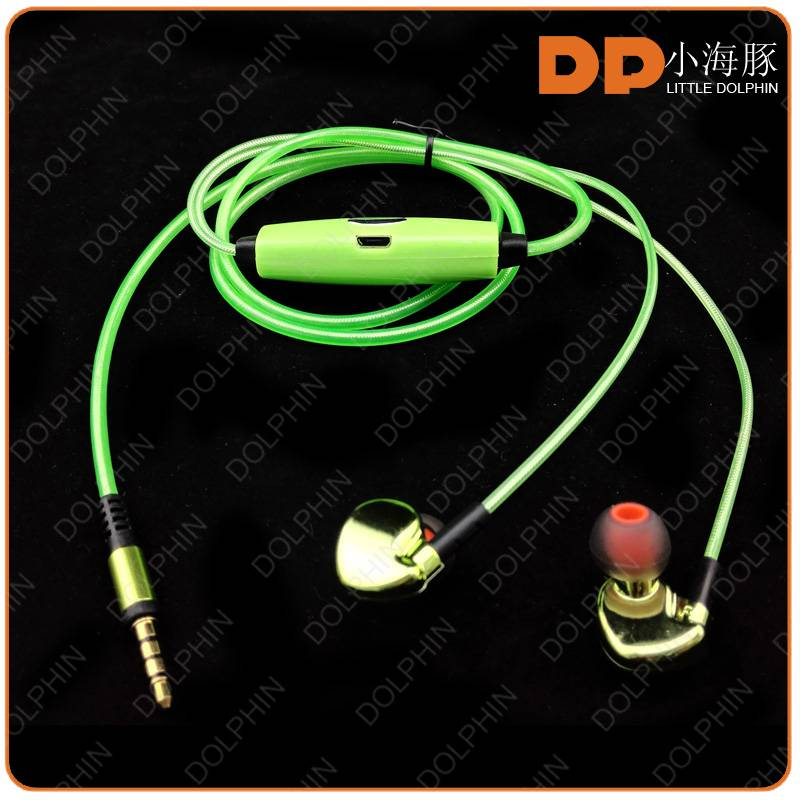 Latest design EL glowing headphones led light earphones for smart phone