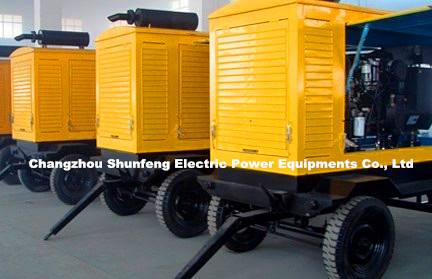 TRAILER TYPE/ Silent Canopy/mobile generating set/ Diesel Generator