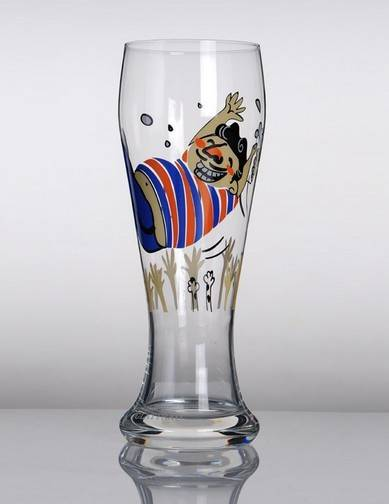 High Clear Beer Glass
