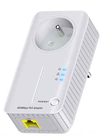 600Mbps Powerline Adapter with AC Pass Through