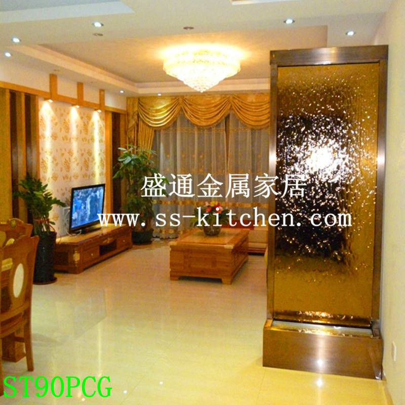 Waterfall,Glasswater fountain ,water screen water partition for decor