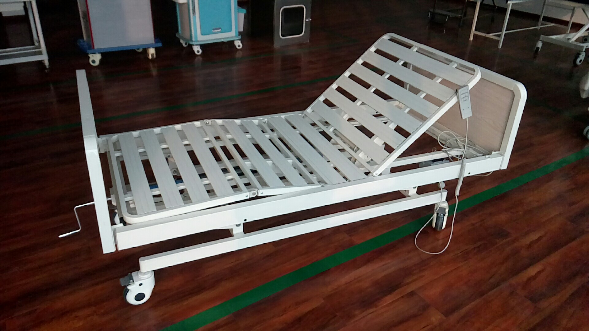 Three- function electric&manual hospital bed,homecare bed, wooden bed