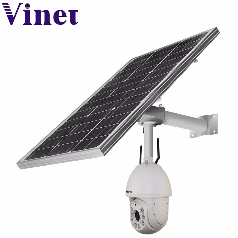 wifi 1080P 8 LED support 3G 4G sim card outdoor solar power wireless 4G HD IP cameras(VNT-GP1300-4)
