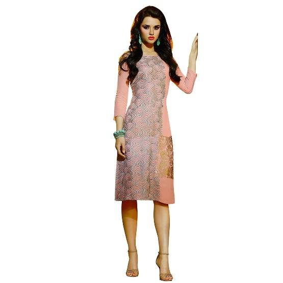Shonaya  Pink  Colour Georgatte Embrodery Stitched Kurti  ETBLS-206