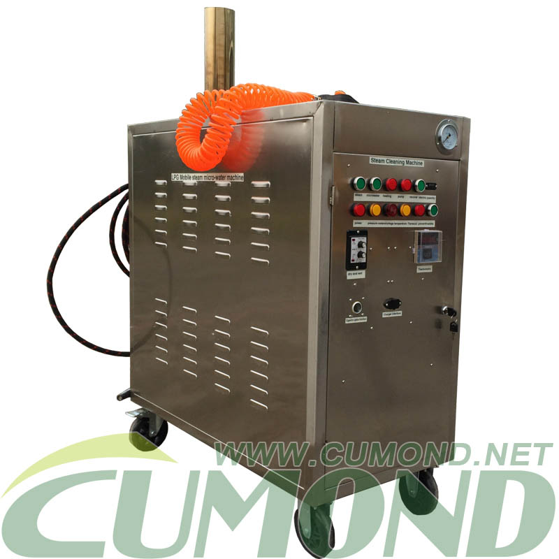 Gasoline steam cleaner machine