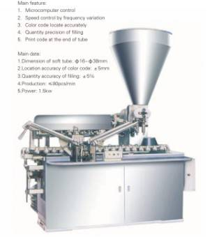 FILLING-SEALING MACHINE FOR ALUMINUM TUBES