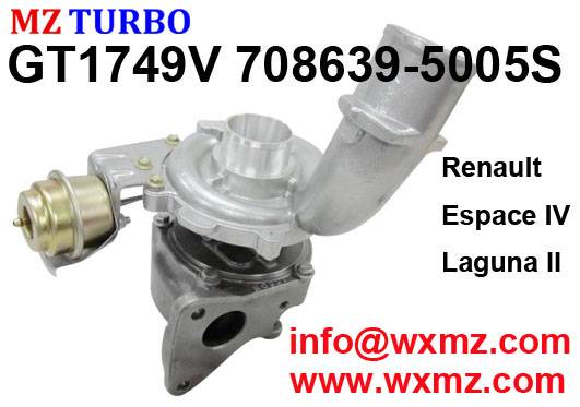 GT1749V 708639-5005S Turbocharger suit for Renault Espace IV Laguna II