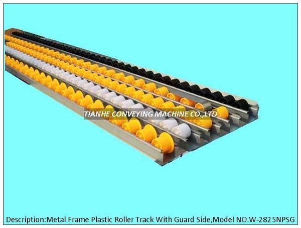 Aluminum Frame Plastic Roller Track,Plastic Roller Rail,Plastic wheel conveyor,Plroller wheel track,
