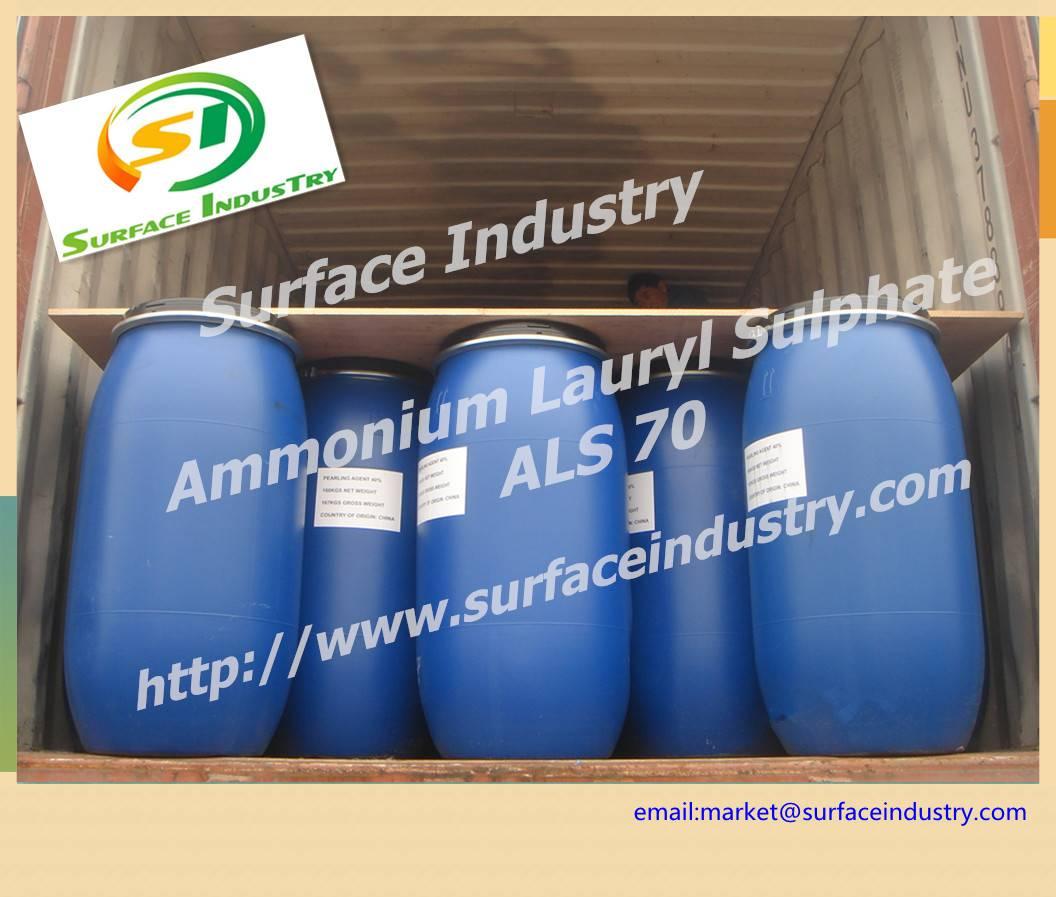 Rich and Fine Foam Ammonium Lauryl Sulphate,ALS 70